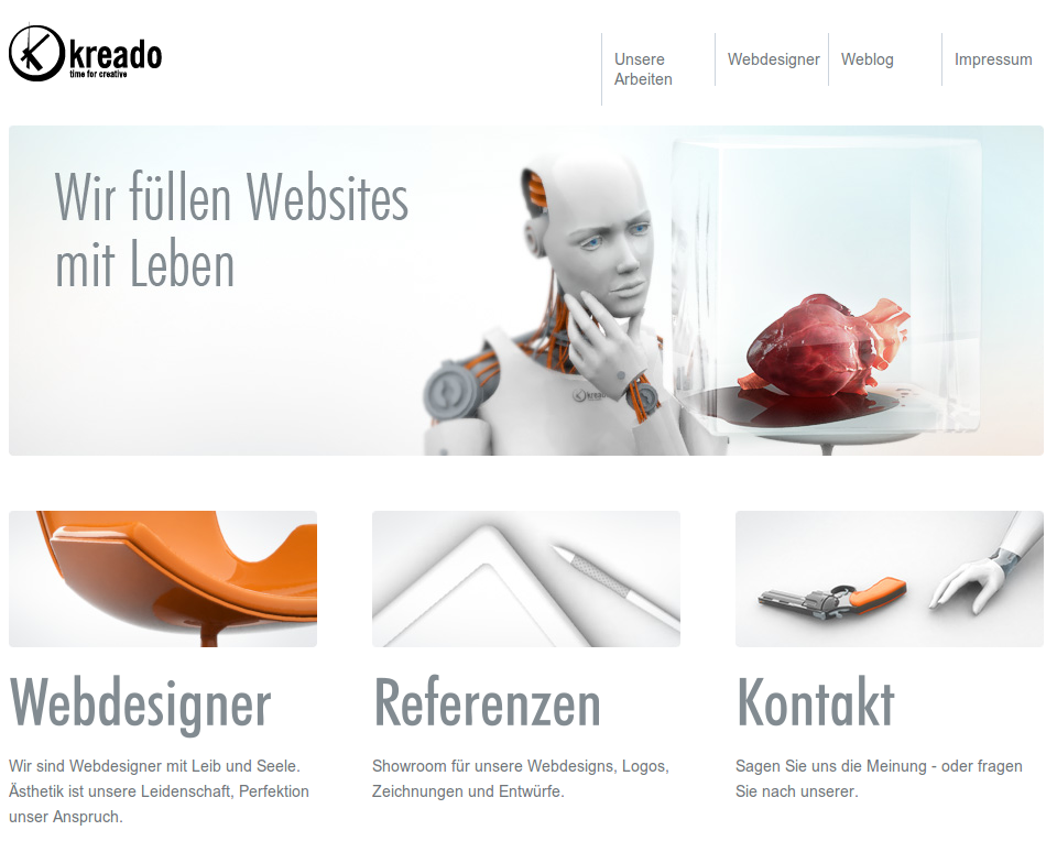 Webdesign, Logo und Animation